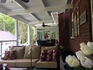 Host a brunch with family and friends under your adjustable patio system.