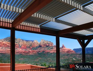 Solara offers great possibilities with the adjustable louvered system.