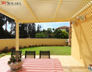 Enjoy your outdoor space under a Solara adjustable louvered system