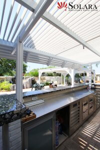 Patio Cover above outdoor kitchen.