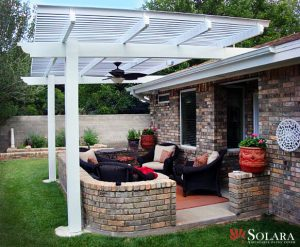 Why settle for a solid patio cover when you can have an adjustable louvered system.