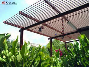 The low maintenance adjustable louvered system option.